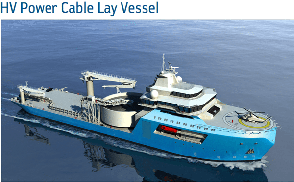 GustoMSC Constructor HV Power cable lay vessel