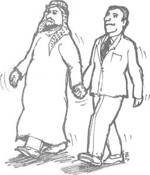 holding hands arab
