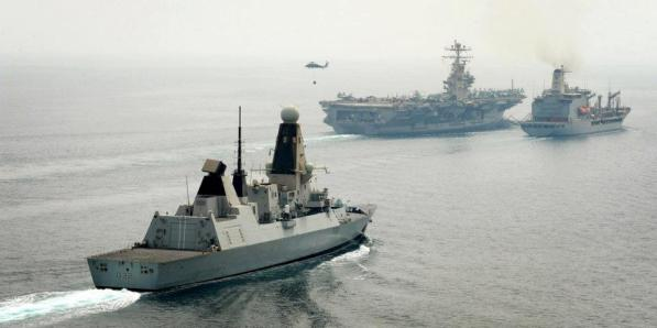 HMS Daring Abraham Lincoln aircraft carrier destroyer royal navy