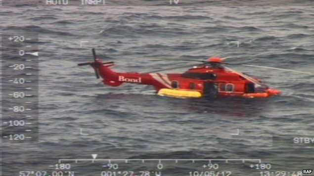 bond super puma Eurocopter EC225 ditches