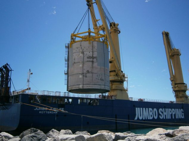 jumbo jubilee heavy lift shipping gorgon caissons