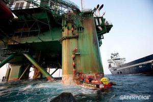 Greenpeace cairn energy ocean rig