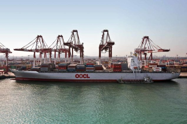 OOCL Vancouver qingdao overseas orient containership