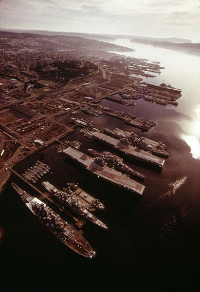 puget sound naval shipyard aerial view