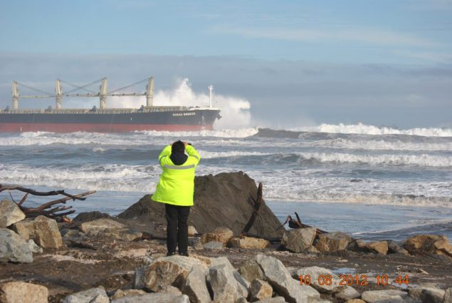 ocean breeze bulk carrier chile aground beach