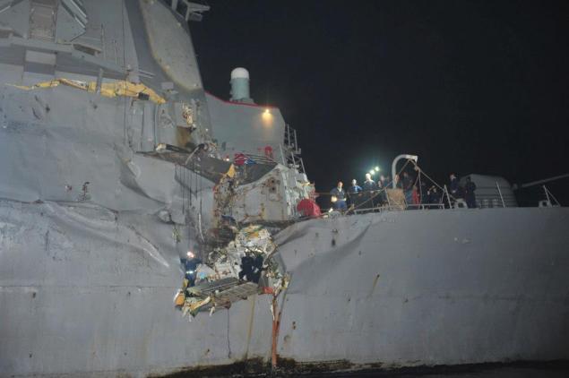 uss porter collision tanker gulf