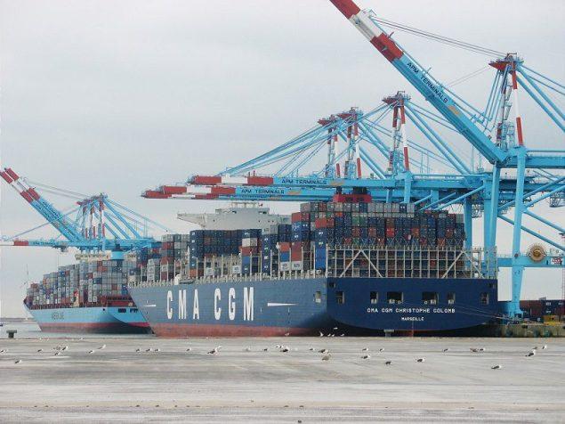 CMA CGM Christophe Columb super post panamax apm terminals zeebrugge container port
