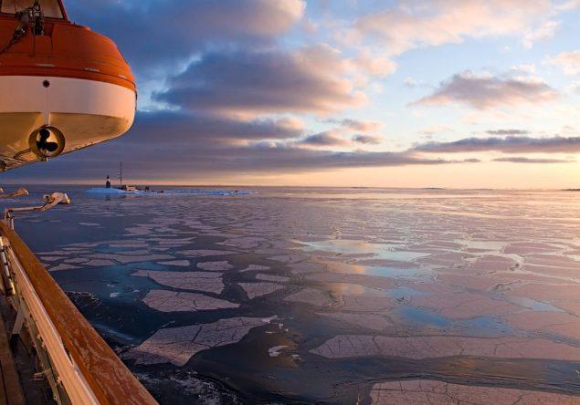 arctic ice sea lifeboat lighthouse sunset