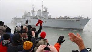 HMS Ark Royal in Portsmouth