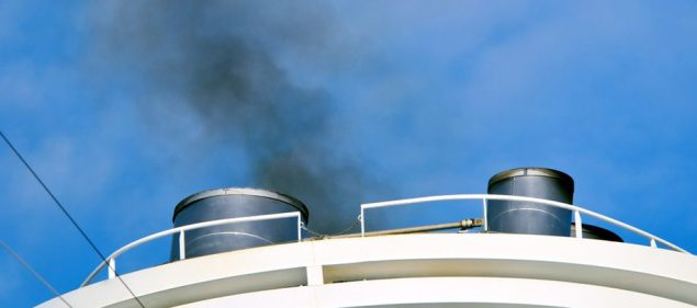 ship emissions stack pollution exhaust gas sulfur dioxide