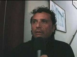 File photo. Francesco Schettino during an interview following the January 2012 Costa Concordia disaster.