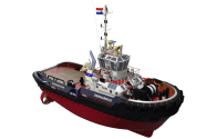 Diesel-Electric Power Plus Batteries Makes for a Very Efficient Tugboat