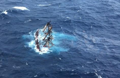 hms bounty fuel leak sinking uscg