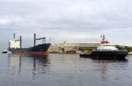 First Day of Work: Crowley's New Ocean Class Tug Tows Grounded Hansa Berlin to Safety in Cuba