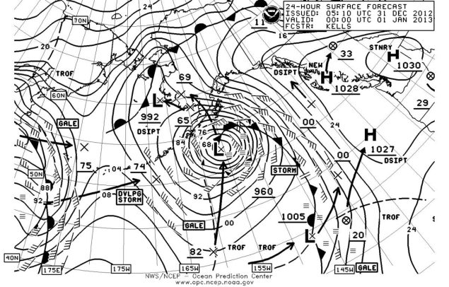 northern pacific surface analysis