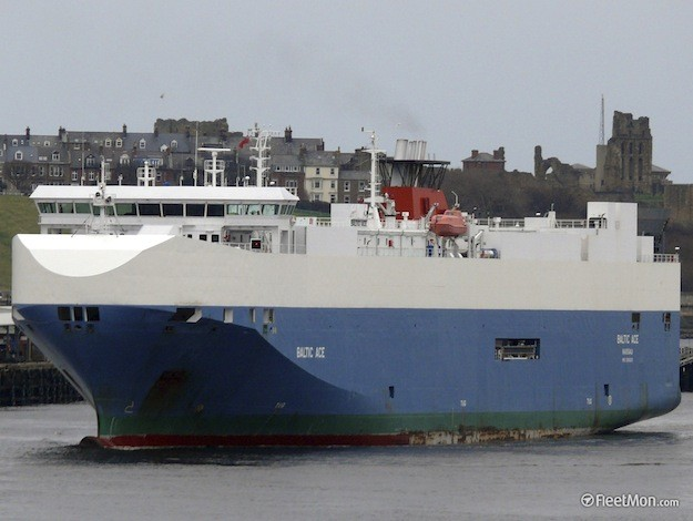 File Photo: The Bahamas-flagged car carrier, Baltic Ace.