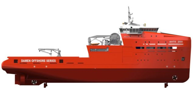 damen ahts 200 profile view osv ship offshore