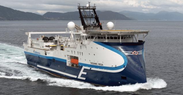 Oceanic Vega cggveritas geoseismic ship