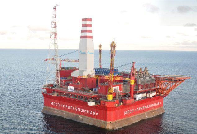 Prirazlomnaya platform Gazprom
