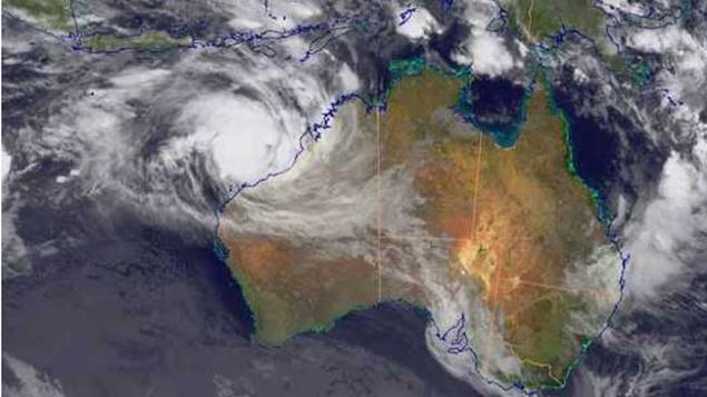 Cyclone Rusty via Bureau of Meteorology