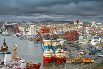 st. john's newfoundland harbor canada offshore