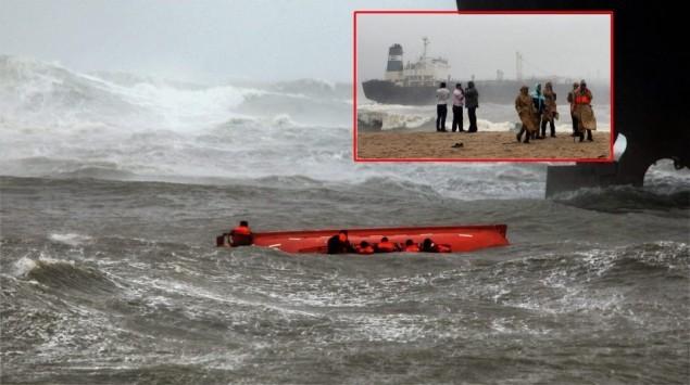 The scene near Chennai. Photo via Indian Express facebook