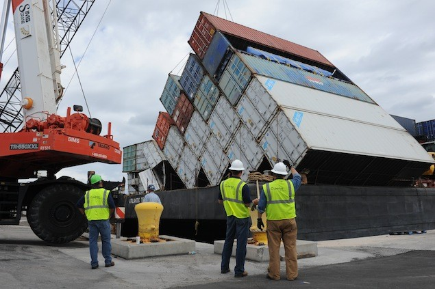 """Looks like they just sort of fell over."" U.S. Coast Guard Photo"