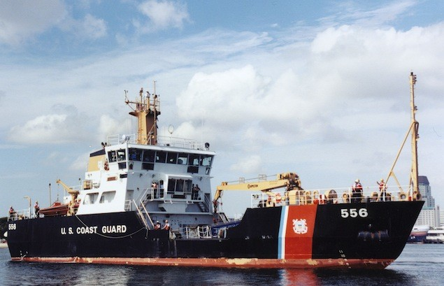The Coast Guard Cutter Joshua Appleby (WLM 556), part of the a 175' long Keeper Class Cutters