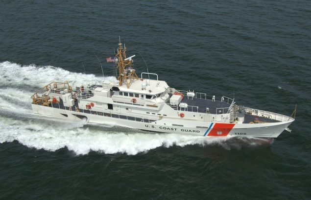 Fast Response Cutter USCGC MARGARET NORVELL operating in the U. S. Gulf of Mexico. Photo: Bollinger Shipyards