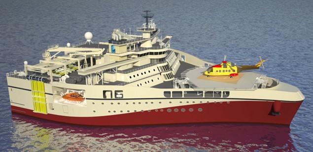Ramform titan seismic ship
