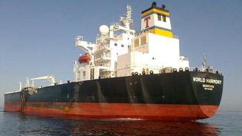 World Harmony, a Tsakos Energy Navigation-owned Panamax product tanker.  Image (c) E.L at MarineTraffic.com