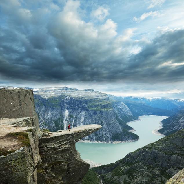 trolltunga norway scenic fjord norwegian landscape