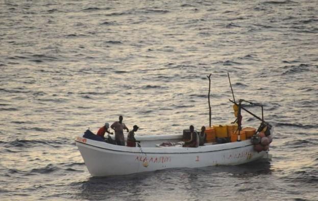 File photo of fisherman off the coast of Somalia.