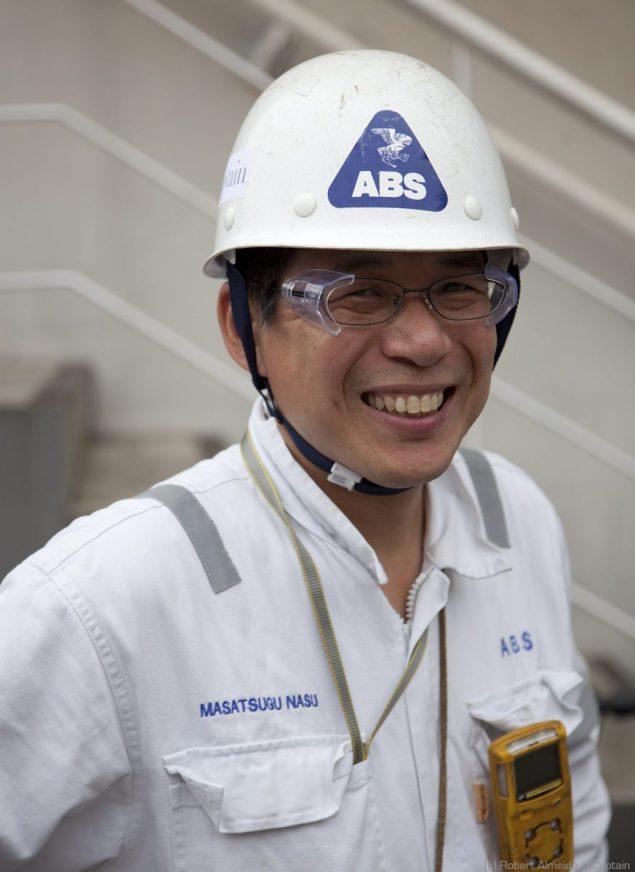 Masatsugu Nasu, an ABS surveyor from Japan.  HUGE gCaptain fan. (c) R.Almeida/gCaptain