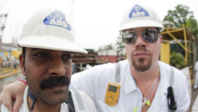 Praveen's mustache = awesome. (c) R.Almeida/gCaptain