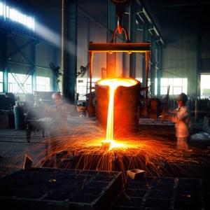 steel manufacturing molten iron industrial