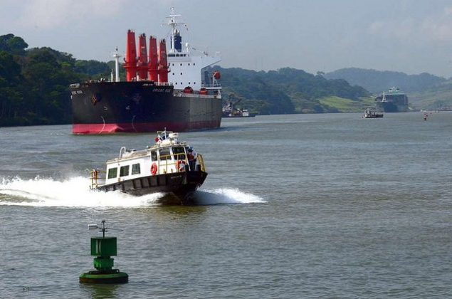 Ships transit the Panama Canal. Photo (c) Canal de Panamá.