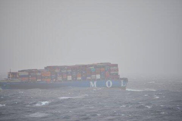 Bow section picture after breaking apart July 17. Image credit: MRCC Mumbai