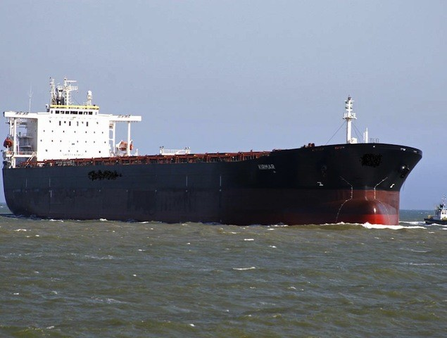 Excel Maritime's capesize bulker, MV Kirmar. Image courtesy Excel Maritime
