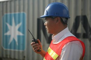A Maersk employee in Shenzhen (photo: Maersk)