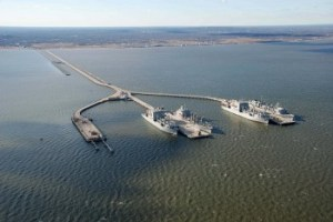 """The base serves as the """"operational support base for five Military Sealift Commands combat logistics ships,"""" according to the Navy. U.S. Navy Photo"""