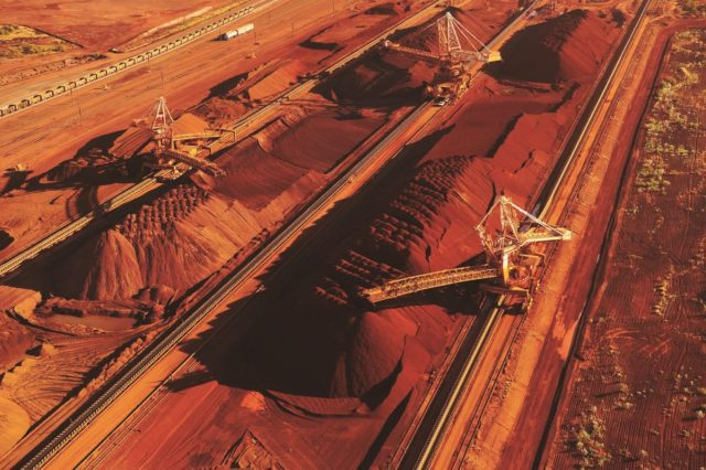 Iron ore at Port Hedland, photo (c) BHP Billiton