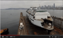 Washington State Ferries' 144-Car Ferry Floated from Drydock [TIMELAPSE]