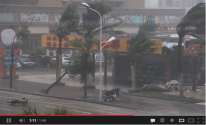 Chinese Moped Drivers Fearless in the Face of Typhoon Utor [VIDEO]