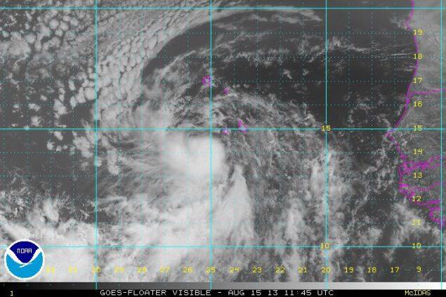 TS Erin 1145Z 15 Aug 2013 Visible Satellite image via NOAA