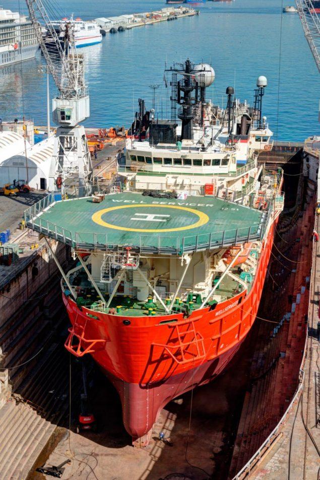 technip wellservicer gibdock drydock offshore