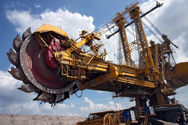 mining machine digger digging
