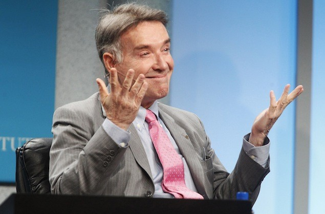 """Brazilian Eike Batista, chairman and CEO of EBX Group, gestures as he is introduced as one of the world's wealthiest men, prior to the """"Global Overview: Shifting Fortunes"""" lunch panel discussion at the Milken Institute Global Conference in Beverly Hills, California in this April 30, 2012 file photo. REUTERS/Fred Prouser/Files"""