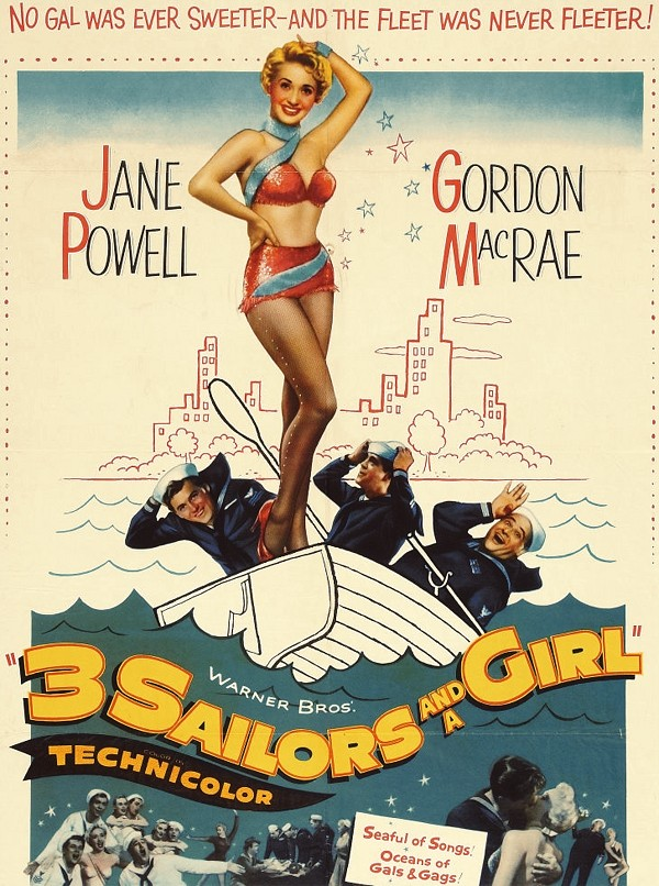 3 Sailors and a Girl Lot (Warner Brothers, 1954)