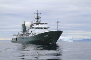 RV Falkor profile. Image courtesy Schmidt Ocean Research